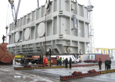Transhipment of transformers for the Bełchatów Power Plant